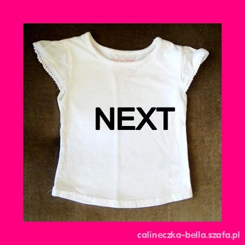 NEXT biała bluzka 3 6 mies