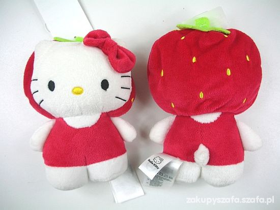 Maskotka Hello Kitty truskawka nowa