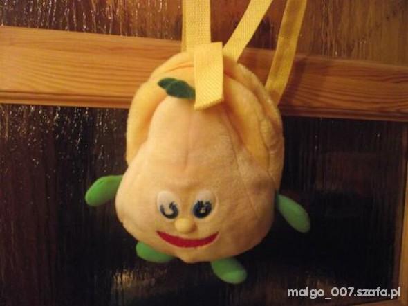 plecaczek dla dziecka w kształcie gruszki