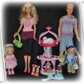 Barbie Ken 2 małe lalki i 3 zwierzaki