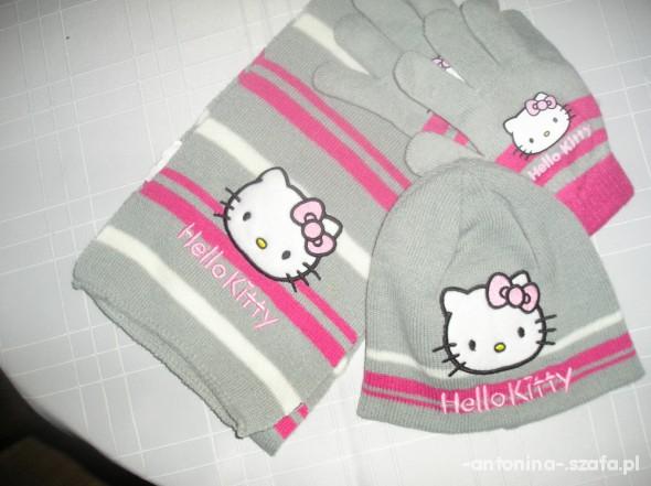 czapka szalik i rękawiczki hello kitty