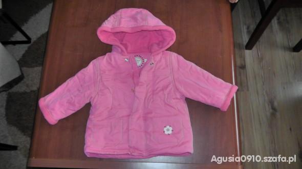 Różowa kurtka zimowa 5 10 15 rozm 74 w Kurteczki, płaszczyki