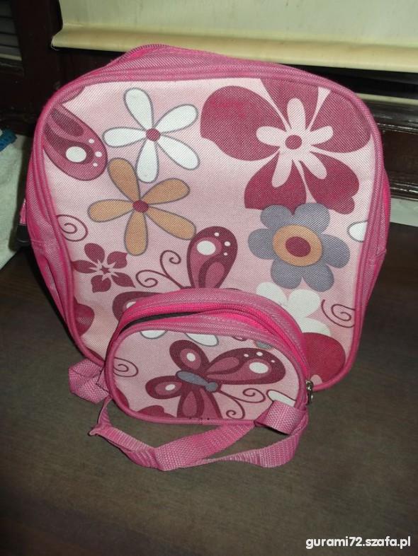 Plecak i saszetka do srodka w motyle