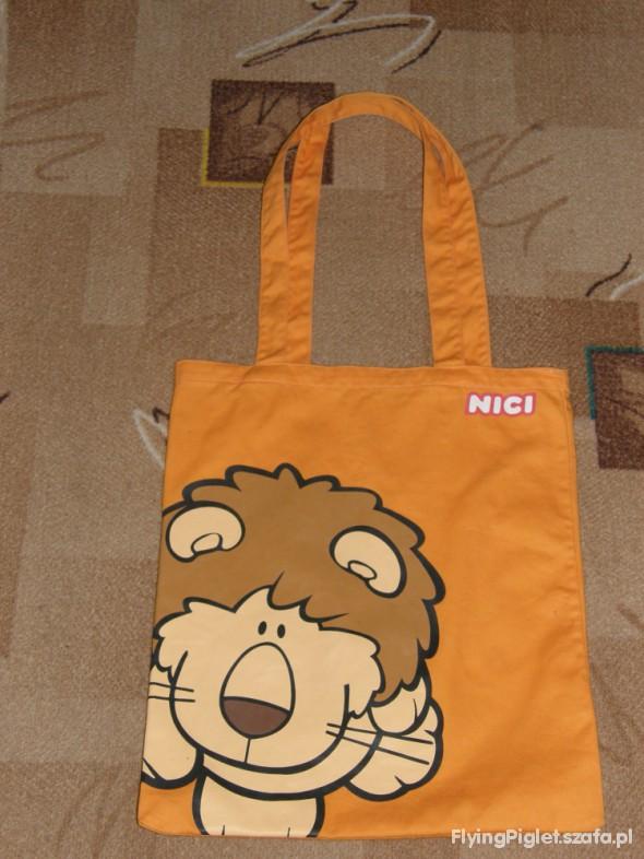 7e8bcaf0586c3 torba worek NICI z lwem LEW LION pomarańczowa w Torebki i plecaczki ...