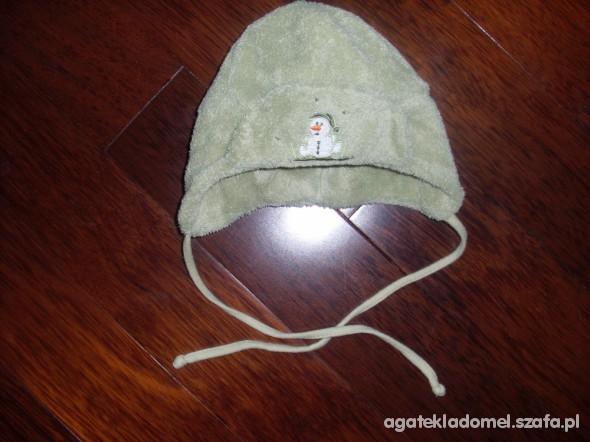 czapka zielona 3 6 miesiecy