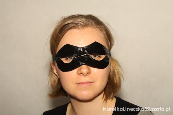 czarna opaska na oczy batmankikobieta kot kobiet