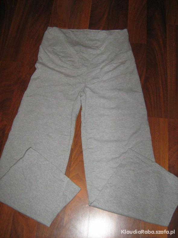 Nowe dresowe spodnie ciążowe z panelem rozm L XL