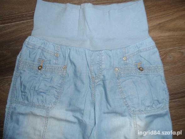 Jeansowe Spodenki Ciążowe
