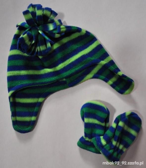 NOWY komplet czapka i rękawiczki 03 mce