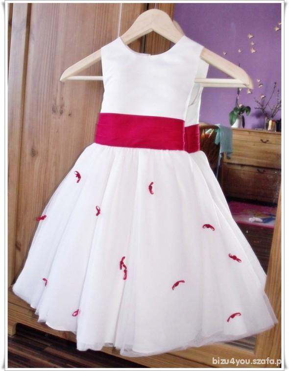 d31ecb595e Sukienka balowa wizytowa ecru tiul 98 104cm w Sukienki i spódniczki ...