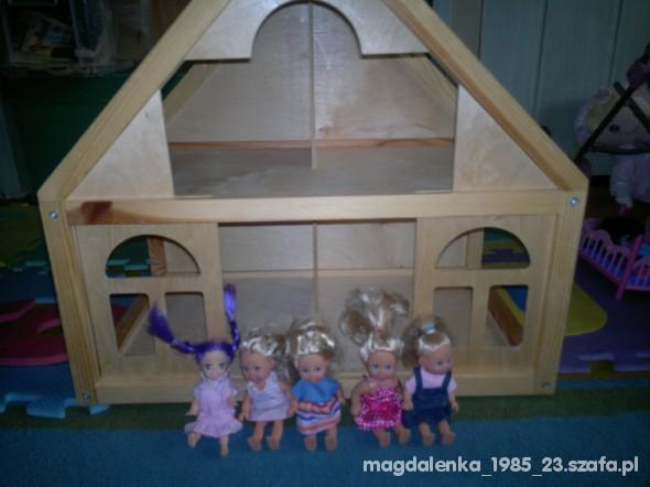 domek dla lalek drewniany jak nowy lalki evi