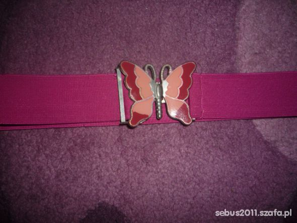 pasek szeroka guma z motylkiem