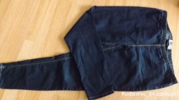 Spodnie dżinsowe ciążowe na gumce