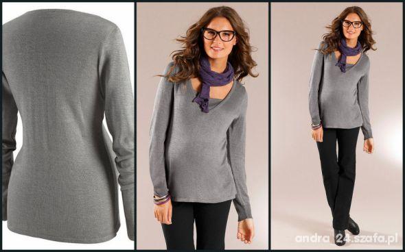 Szary sweterek 40 42 nowy