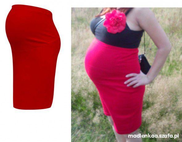 Spódnica ciążowa z panelem bezuciskowa na gumce