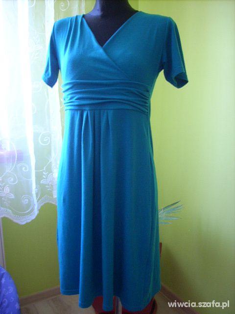 Sukienka turkusowa ciazowa r 38 40