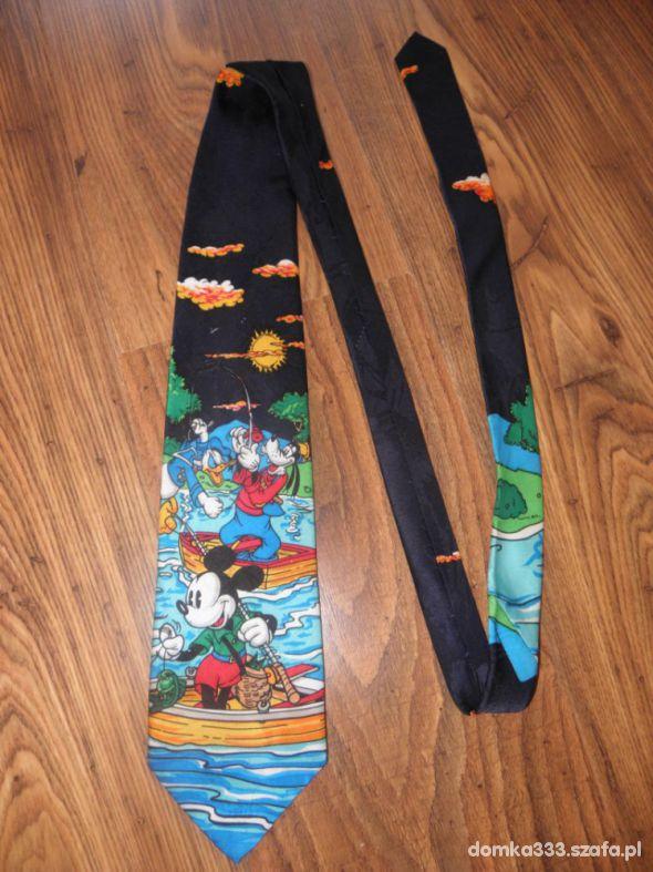 krawat myszka miki i goofy