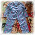satynowa piżamka 104 110