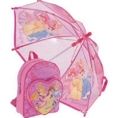 DISNEY PRINCESS zestaw plecak i parasol