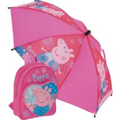 PEPPA PIG zestaw plecak i parasol
