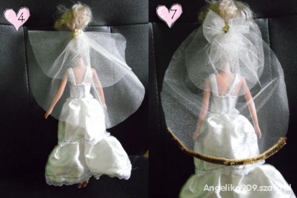 Suknie ślubne Z Welonem Dla Barbie Ręcznie Szyte W Lalki I Domki Dla