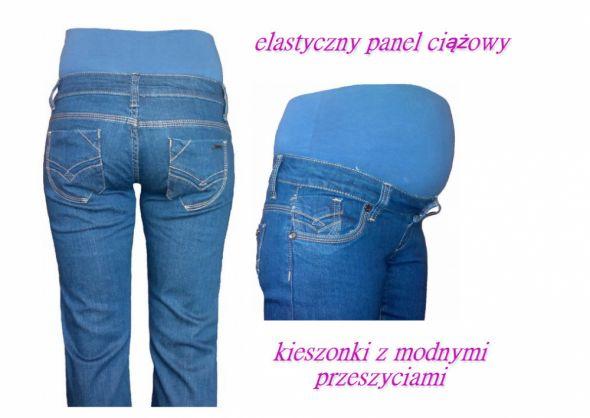 Jeansy ciążowe NISKI PANEL super fason XS M XL