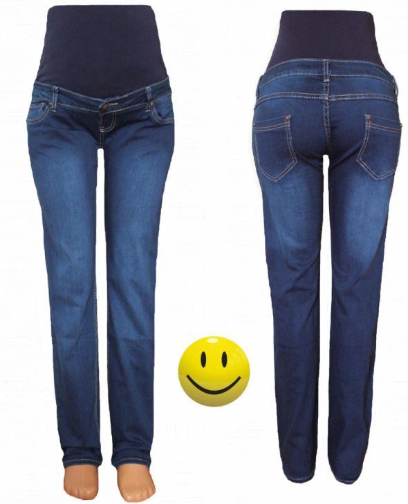 NOWE jeansy ciążowe elastyczny panel r M do XXXL