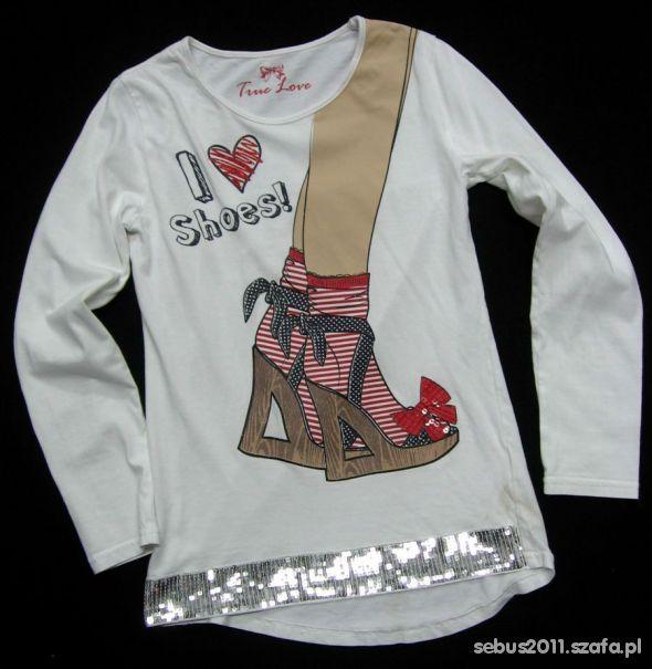 bluzka tunika z butami cekiny 134 140