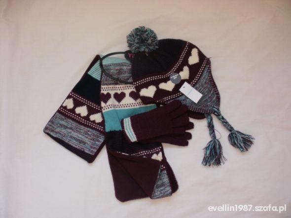 3pack nowwy szalik rękawiczki i czapka