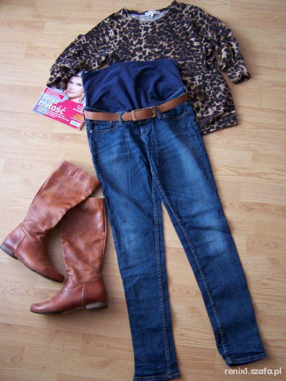 HM ciążowe rurki jeans z panelem 38 40 na 170