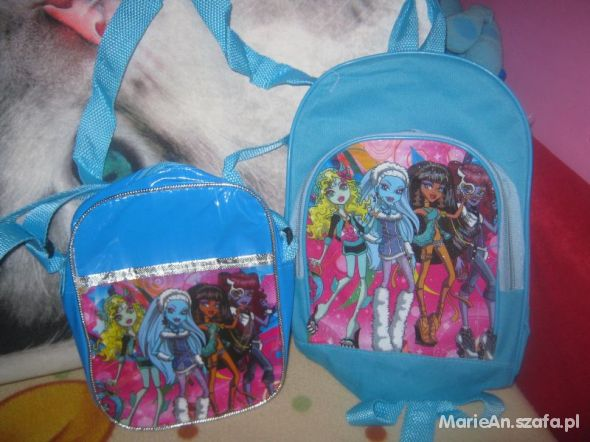 Zestaw Monster High torebka plecak nowe prezent