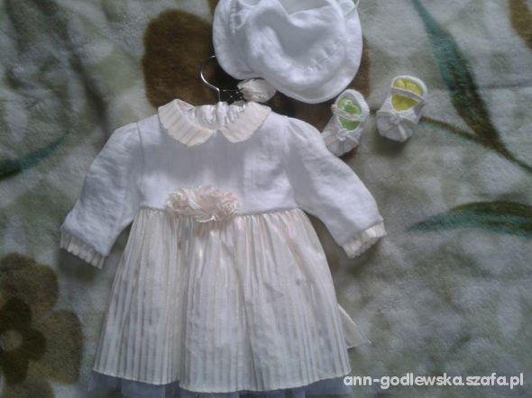 f7777d7bad Wspólne Przepiękna lniana sukienka na chrzest 62 68 w Sukienki i  CC-14