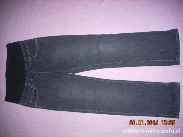 jeansy ciążowe granatowe