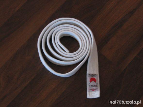 Pas do kimona karate judo aikido biały