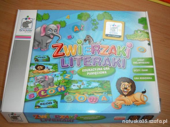 Edukacyjna Gra Zwierzaki Literaki W Gry Szafapl