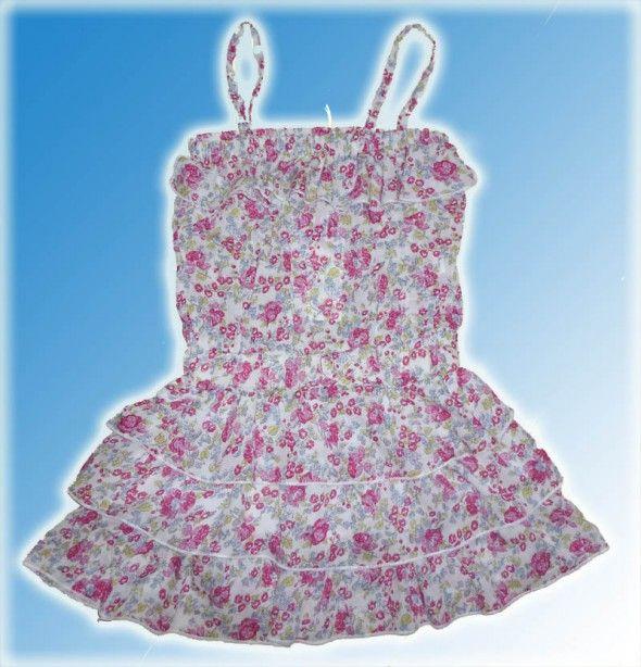 Sukienka w kwiatki rozmiar 122 128 Falbanki