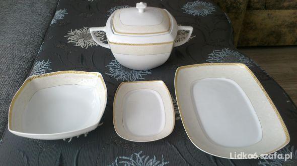 komplet porcelany stołowej wersja obiadowa