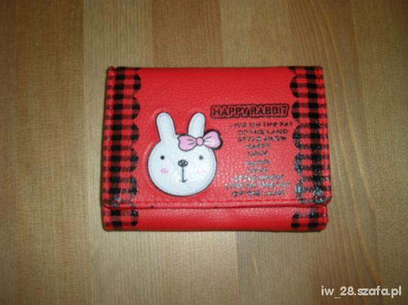 Portfel dziewczęcy czerwony Happy Rabbit