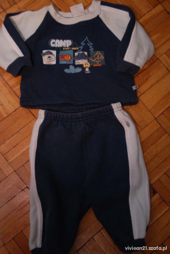Granatowy dres 62 fixoni spodnie bluza 62