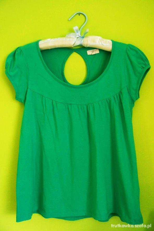 New Look zielona bluzka tuniczka luźna ciążowa