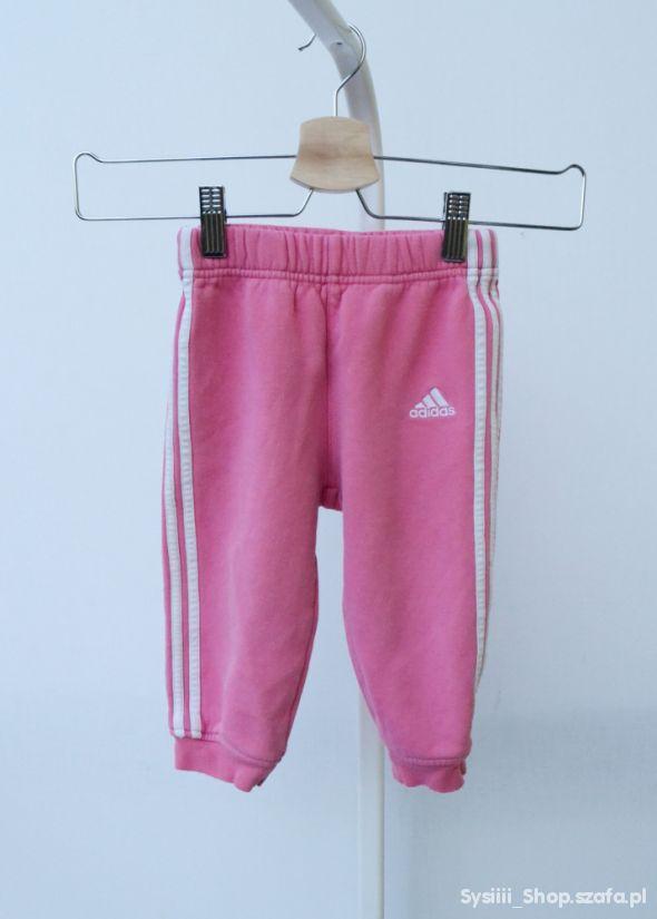 Spodnie Dresy Róż Dresowe Adidas 86 cm 12 18 m