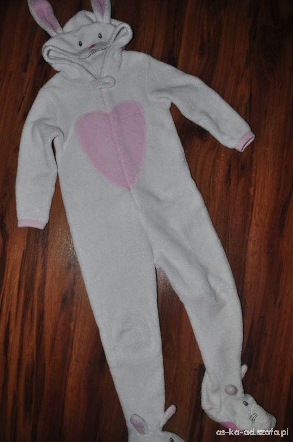 f53b3300c519ad Kombinezon pajac piżama polar królik 116 cm w Piżamy, śpioszki ...