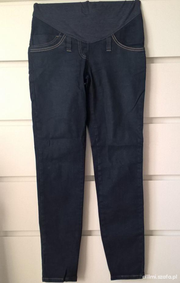 Ciążowe ciemne jeansy