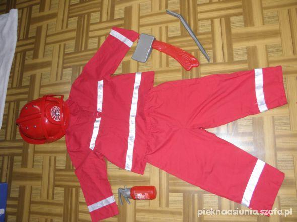 Strażak 98 104 strój przebranie
