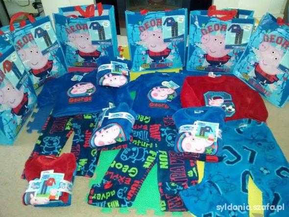 Peppa Pig George puszysty polarowy dres plus torba