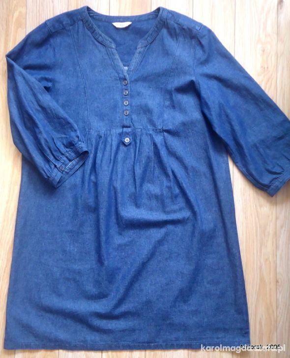 F&F jeansowa tunika ciążowa