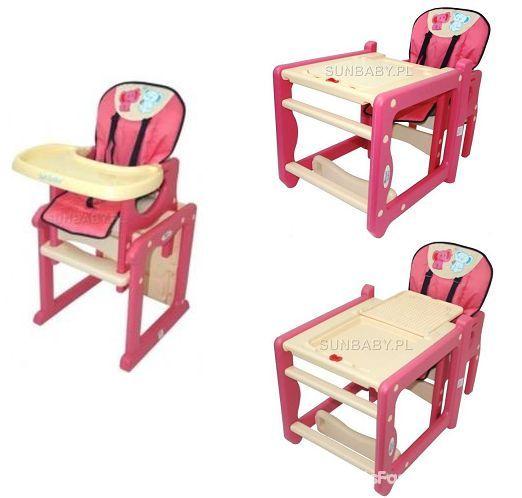 SUN BABY krzesełko 2w1 stolik