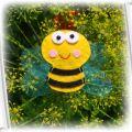 pszczółka spinka do włosów hand made