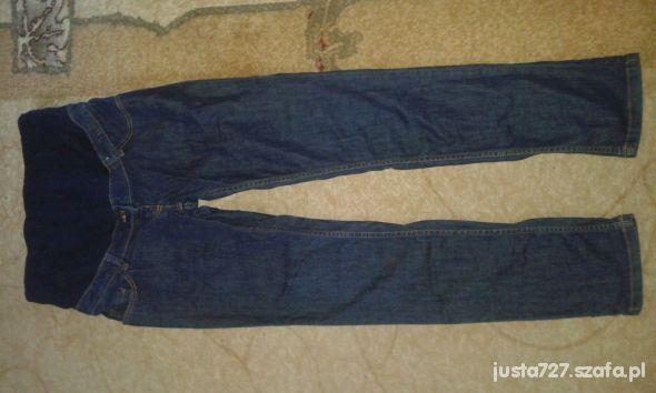Jeansy ciążowe 42 xl spodnie rurki