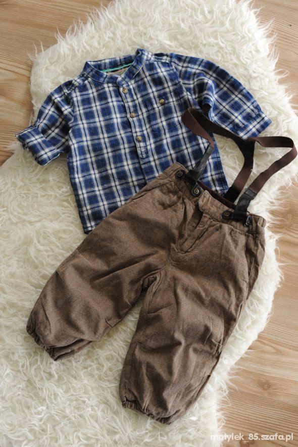 Zestaw H&M spodnie 80 i koszula 74